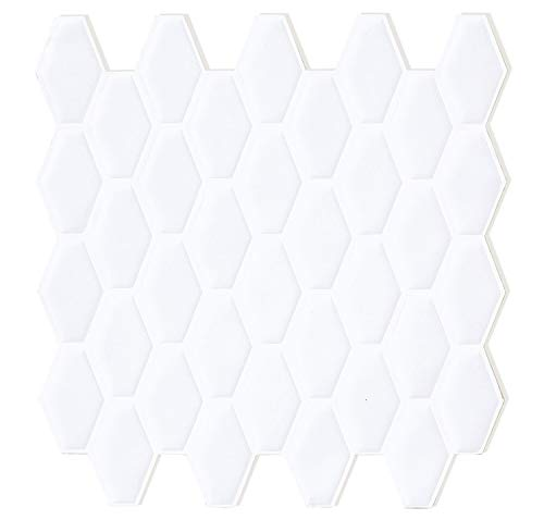Peel and Stick Backsplash for Kitchen in Pure White (6 Tile)