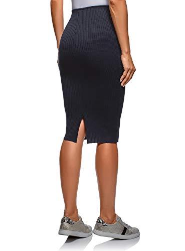 Taille lastique Femme Bleu tes 7900n Ultra C Jupe oodji YX4gq