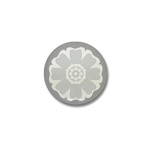 CafePress White Lotus Tile Mini Button 1
