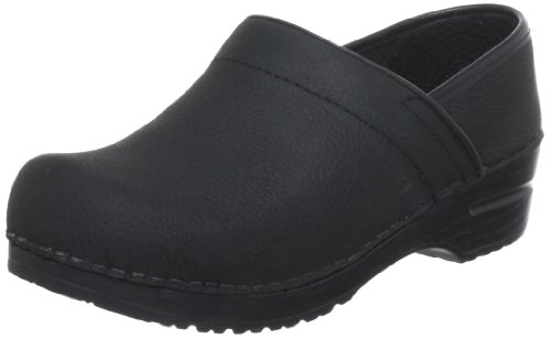 Sanita Women's Professional Oil Closed Black Leather Clog - 8.5-9 B(M) US by Sanita