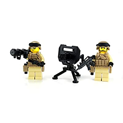 Battle Brick Modern Army Soldiers Perimeter Security (SKU45) Custom Minifigures: Toys & Games