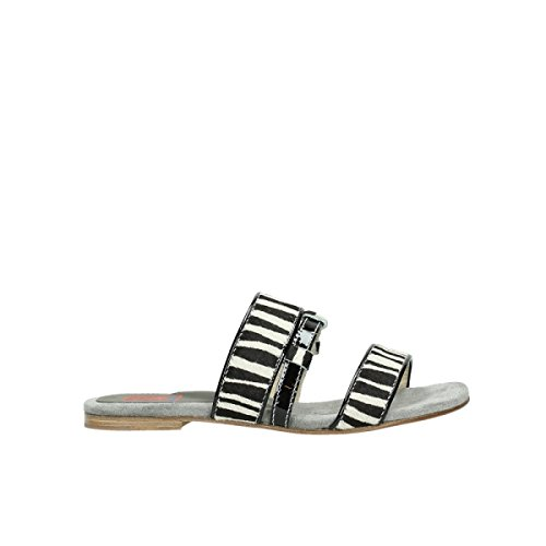 50000 Prints - Wolky Comfort Sandals Miami - 50000 Zebra Print Leather - 42