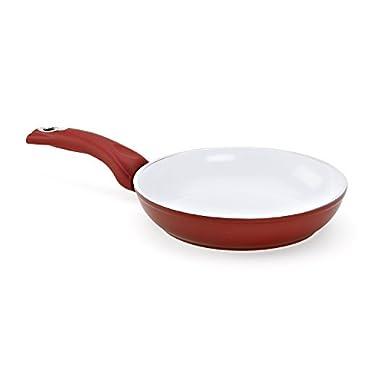 Bialetti Aeternum Red 7190 Saute Pan, 8-inch
