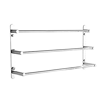 23.6 Inch Stainless Steel Three Towel Bar Bathroom Shelves Updated Version with Wall Mount & Nail Free Installation Way Hotel Bath Towel Rack Modern Polished Finish LightinTheBox 2404561