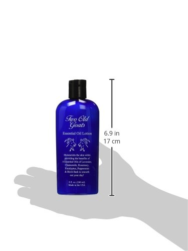 Two Old Goats Essential Oil Lotion for aches & pain 8oz with pump, 2 pack
