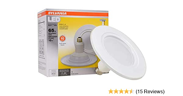 NEW 4 pack All-in-One Recessed Sylvania LED Bulb and Trim 800 Lumens 12 watts