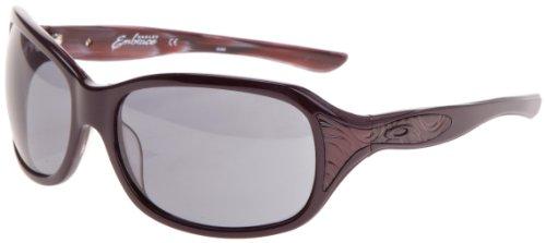 oakley embrace sunglasses womens  oakley embrace womens sunglasses blackberry frame/grey lens: amazon.co.uk: clothing