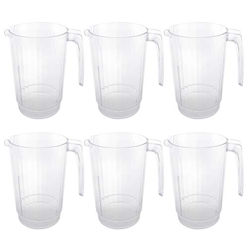64 oz Plastic Water Pitchers Clear Beer Drink 6 - 64 Ounce Plastic Pitcher