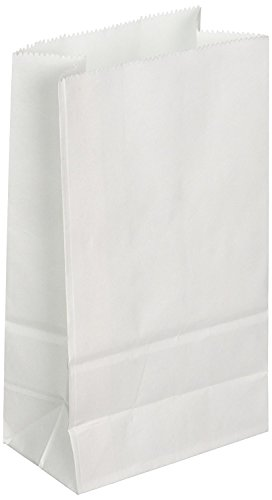 Bag Egg White (Mr. Miracle 8lb White Rainbow Paper Bags 200 Count (2 x 100 Packs))