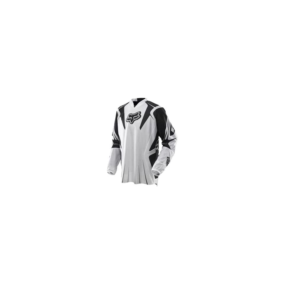 Fox Racing Airline Jersey   Large/White/Black