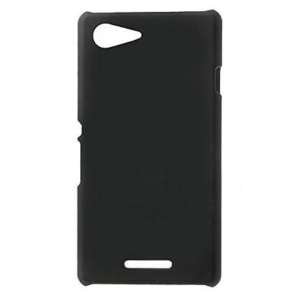buy popular 077ea 57724 WOW Imagine Matte Rubberised Matte Hard Case Back Cover for Sony Xperia E3  / E3 Dual (Pitch Black)