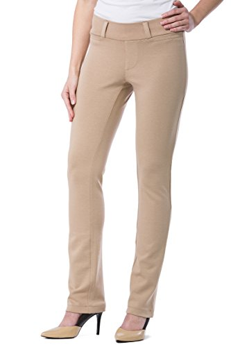 Fishers Finery Women's Ecofabric Ponte Stretch Straight Leg Dress Pant; Pull On