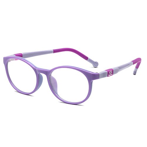 Fantia Kids Safety Flex Optical Round Eye Glasses Prescription Glasses (Purple)