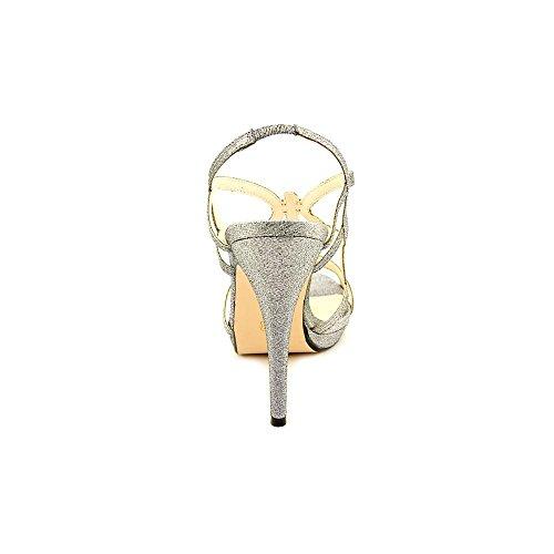 Caparros Womens Macarena Open Toe Slingback Platform Pumps Mercury Glimmer btVo3