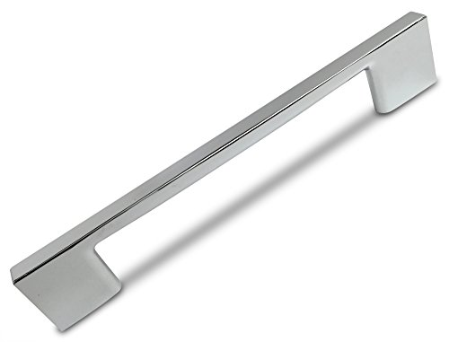(Southern Hills Polished Chrome Cabinet Handles, 5.1 Inches Total Length, 3.75 Inch Screw Spacing, Chrome Drawer Pulls, Pack of 5, Modern Cabinet Hardware, Chrome Cabinet Pulls SH3229-96-CHR-5)
