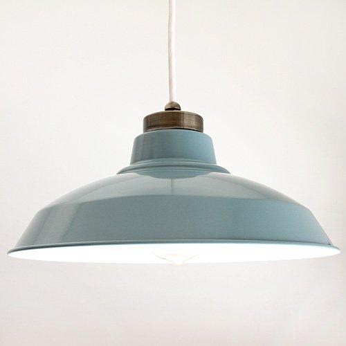 後藤照明バイスロウ GLF x surou アルミ配照セードペンダントアンティークランプ オパールブルー 白コード B008NJ82AK