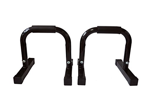 "12"" Body Press, Dip, Push Up Bar Paralettes Set of 2 by Trademark Innovations"