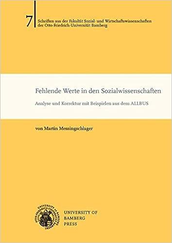 Fehlende Werte In Den Sozialwissenschaften Analyse Und Korrektur