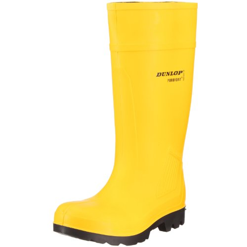 Dunlop C462241 Purofort Fulle Sikkerhetsstandard / Menns Støvler / Vernestøvler (11 Oss) (gul)