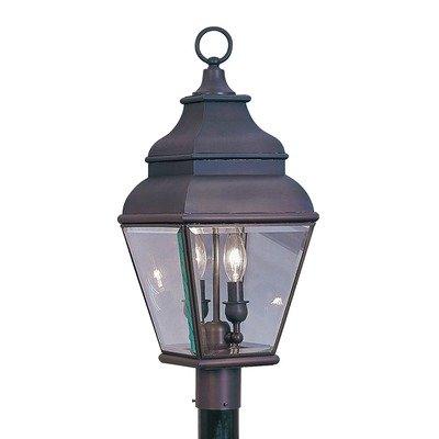 Exeter Outdoor Post Lantern in Bronze Size: 22