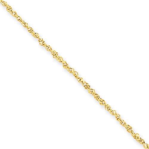 1.7mm, 14k Yellow Gold, Ropa C