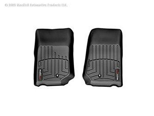 2007 - 2013 Jeep Wrangler Front Set - WeatherTech Custom Floor Mats Liners - Black
