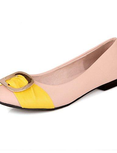 de uk6 aire casual eu39 cn40 al zapatos carrera 5 peach pisos libre del de dedo cerrado mujer plano us8 negro y azul talón comodidad oficina coral pie amarillo rosa 5 PDX UfExOpwO