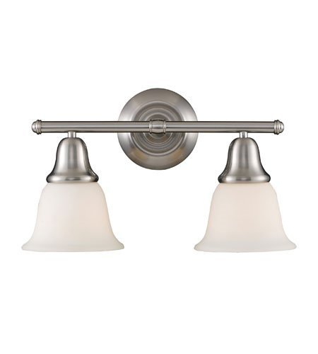 Bathroom Vanity 2 Light with Brushed Nickel Finish Medium Base 17 inch 200 Watts - World of Lamp