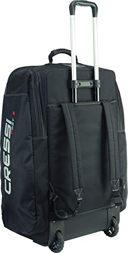 Cressi Strong Large Capacity Trolley Bag 115L with Backpack Straps | Moby 5...