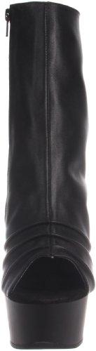C DEL1018MSH Boot S Pleaser Leather PU Women's Black Rwt4Sqz