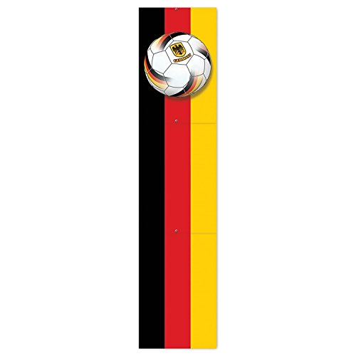 Club Pack of 12 Black, Red and Yellow ''Germany'' Soccer Themed Jointed Pull-Down Cutout Decorations 5' by Party Central