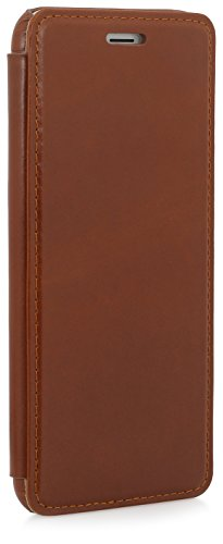 "StilGut Book Type Case ohne Clip, Hülle aus Leder für Apple iPhone 6 Plus (5.5""), cognac"