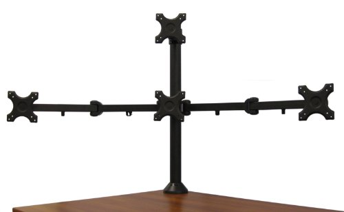 Vivo Quad Lcd Monitor Desk Stand Mount Free Standing With
