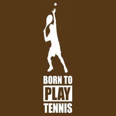 Sudadera con capucha de mujer Born To Play Tennis by Shirtcity Marrón
