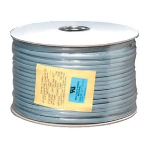 InstallerParts 1000 Ft UL 6 Conductor Silver Satin Modular Cable Reel 26AWG