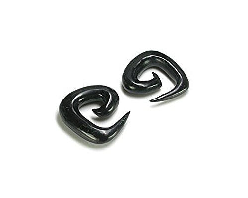 Elementals Organics Square Spiral Natural Horn Tunnel Eyelet Body Jewelry 12g - 1/2