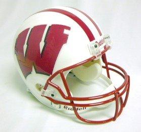Fiber Replica Helmet Optic (Wisconsin Badgers Fiber Optic Full Size Replica Helmet)
