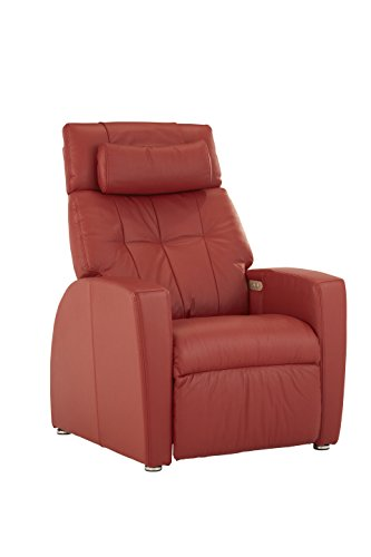 Positive Posture Luma Zero Gravity Powered Recliner Garnet Leather