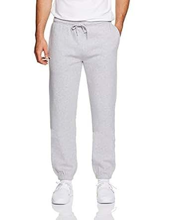 Lacoste Men's Fleece Trackpant, Silver (Silver Chine), Medium