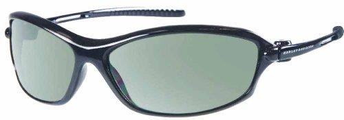 Harley-Davidson Mens Kickstart Sunglasses Glossy Black, Grey Lens HDV001BLK-2 (Davidson Harley Glasses)