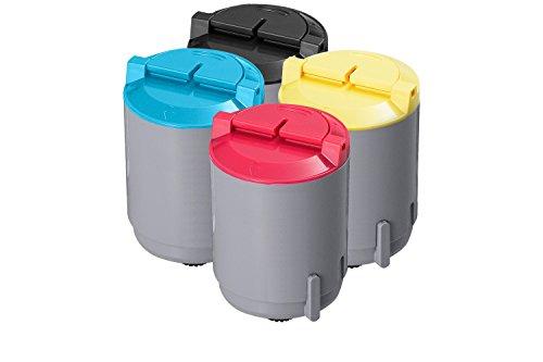 Samsung Value Pack Cyan, Magenta, Yellow, Black Toner 1 Each for CLP-300, CLP-300N, CLX-2160N, CLX-3160N (Clp 300n Laser Printer)