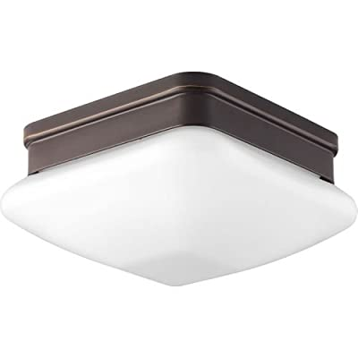 Progress Lighting Contemporary/Soft 1-75W Med Flush Mount