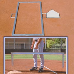 (BSN Foldable Batter's Box Template, 3 x 7-feet)