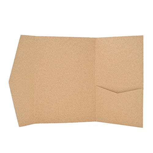 25 Pocket Fold Invitation Holder Wedding Supplies Craft A7#177
