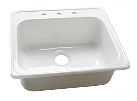 lyons industries dks01x4 white 25 inch by 22 inch single bowl acrylic 9  amazon com  lyons industries dks01x4 white 25 inch by 22 inch      rh   amazon com