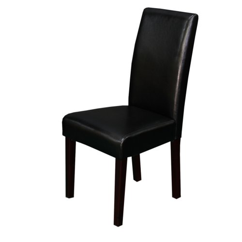 - Monsoon Pacific 222203 Villa Faux Leather Dining Chairs (Set of 2), Black