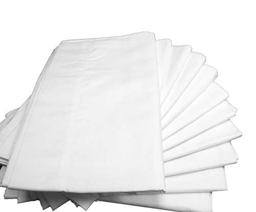 Atlas Polycotton Bulk Pack of 48 Standard Size B Grade Pillowcases, 130 Thread Count Economy, 20