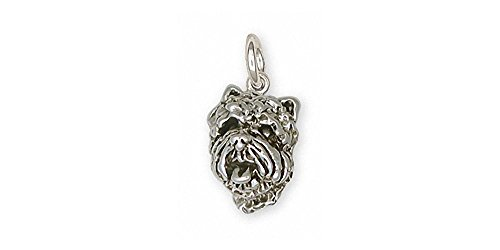 (Westie Charm Jewelry Sterling Silver Handmade West Highland White Terrier Charm CH28-C)