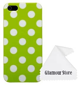 iPhone 6 Case,Green+White Polka Dot TPU Rubber Skin Case Cover for New Apple iPhone 6 4.7 inch With A Free Cleaning Cloth As a Gift wangjiang maoyi