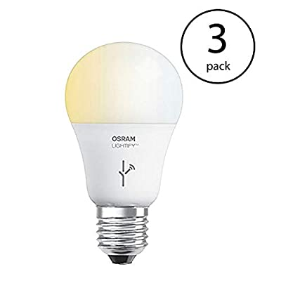 Sylvania Lightify 60-Watt A19 Tunable White Smart LED Light Bulb (3 Pack)